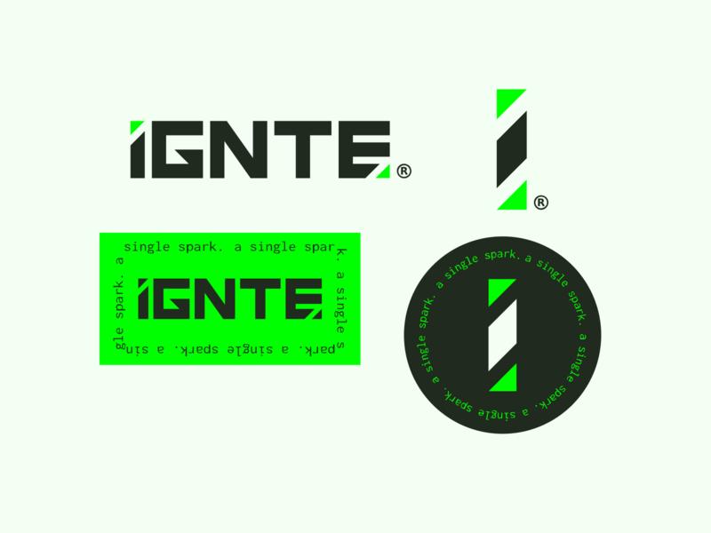 IGNTE Collateral - eSport lifestyle management brand! esports mark logo branding design branding
