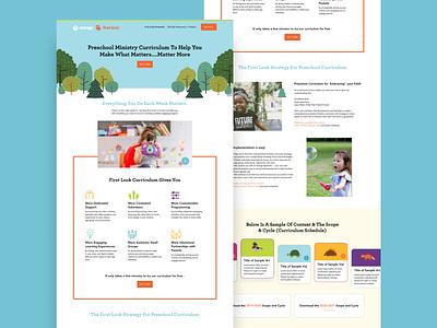 The new First Look curriculum site! website design ministry church website