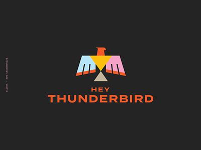 Hey Thunderbird! New brand reveal. hey thunderbird bird design branding brand mark logo