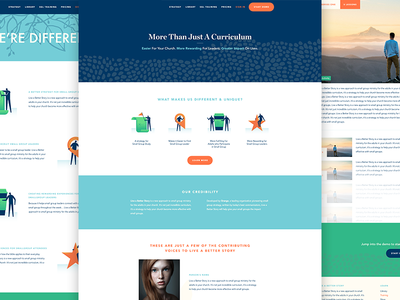 Website for Live A Better Story! hero cta button icon icons illustration marketing site website