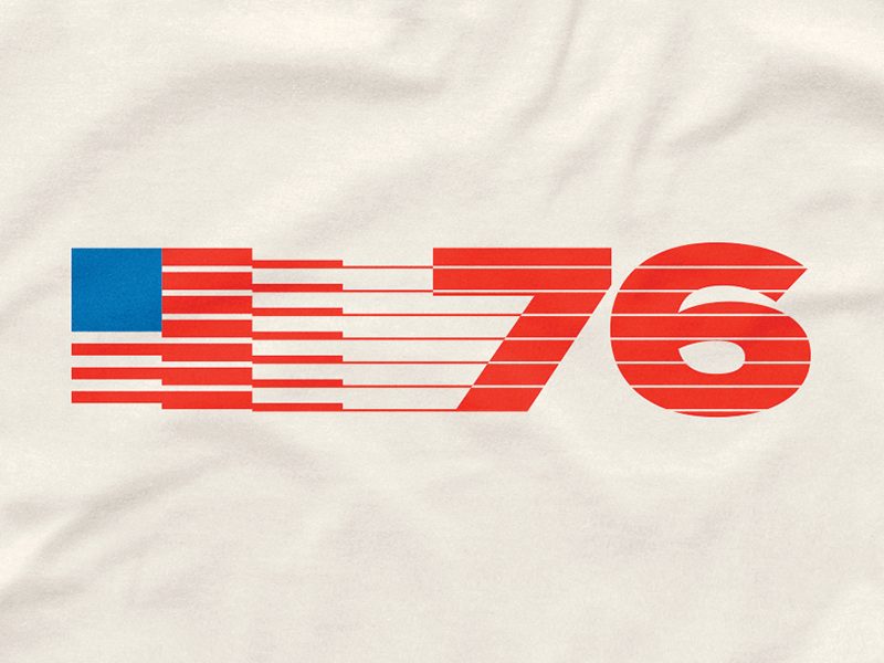 US76' vintage retro design tshirt holiday july 4th independence day united states usa