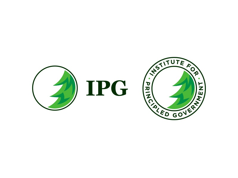Institute for Principled Government Brand forest badge pine tree text mark logo brand branding