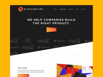 Blackairplane exploration brand logo logos angle gradient button hero landing webpage