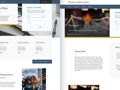 Thompson, Meier & King video hero cta button arrow icon website practice law