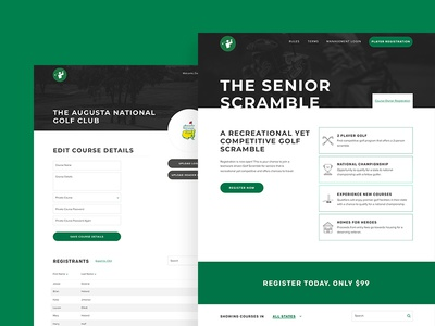 Website, icons and brand for Senior Scramble
