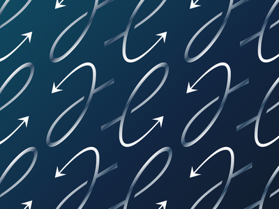 Pattern for The Efficiency App branding brand arrow mark logo pattern gradient glass metallic