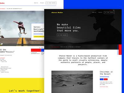 Chance Maker Website website japanese cta buttons skateboard monotype button design ui