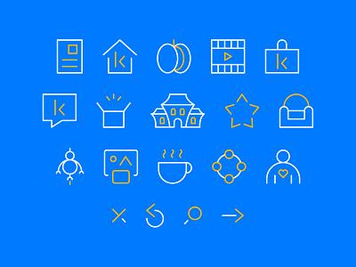 Kefi icon set mark logo branding illustration design iconset icons icon