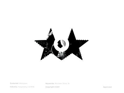 A MonStar Logo hospitality brand design branding symbol brandmark mark logo design logodesign logo