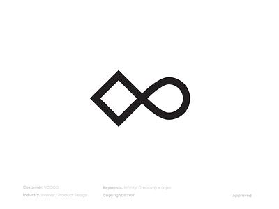 Voood oblakk sredkova flyonacloud logodesigner mark brandmark branding eternity infinity voood logo design logodesign logo