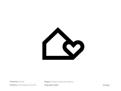 Domyt Logo Design graphicdesign home love stayhome staysafe design symbol logo design flyonacloud oblakk mark brandmark logodesign branding logo