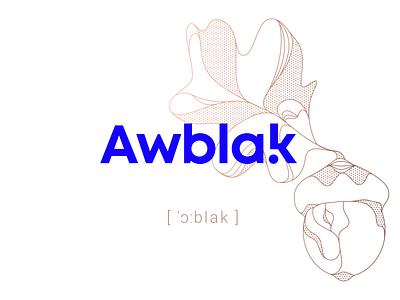Oblakk is now Awblak branding awblak logo new logo new name