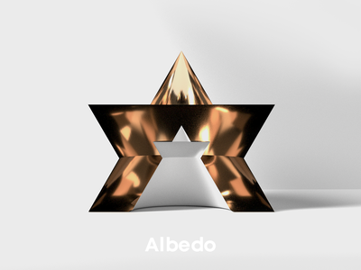 A for Albedo 36days-adobe 36days-a 36daysoftype-а 36daysoftype08 star 3d art albedo 36daysoftype