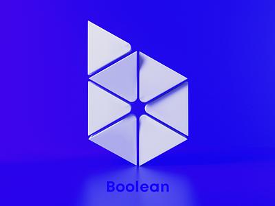 B for Boolean 3d art 3d branding 36daysoftype-08 36days-b 36daysoftype08 36daysoftype awblak flyonacloud mark logodesign logo