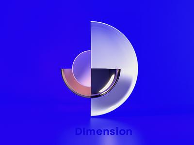 D for Dimension branding 3d art 3d logo design logo awblak flyonacloud mark logodesign 36daysoftype08 36daysoftype
