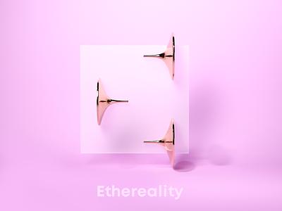 E for Ethereality brandmark logo design 3d art awblak 36daysoftype08 36daysoftype flyonacloud mark logodesign branding