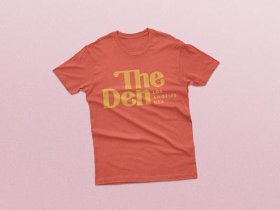 The Den Visual Identity- Pt 2 retro wolf logo branding and identity logo system serif logo logo t-shirt mockup t-shirt design visual identity branding