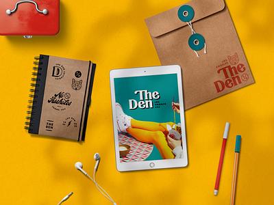 The Den Visual Identity - Pt 3 wordmark wolf logo serif logo retro product mockup mockups logo system visual identity brand identity branding
