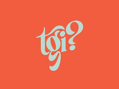 TGI? serif retro lettering custom lettering tgif lettering wordmark serif wordmark serif logo procreate custom type
