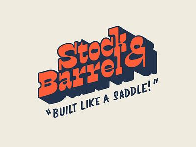 Stock & Barrel T-shirt 1 branding procreate wild west t-shirt design 3d lettering handlettering slabserif lettering retro western