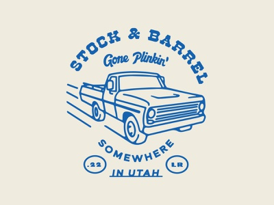 Stock & Barrel T-shirt branding retro vintage truck plinkin tshirt design