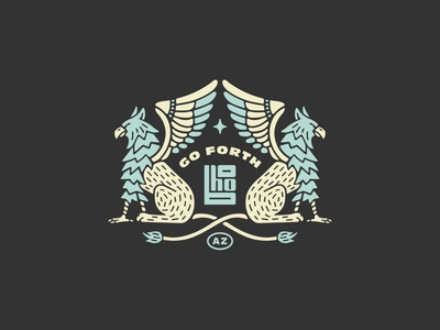 Boho Griffin Tee branding griffin illustration tshirt