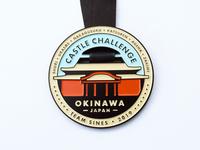 Okinawa Castle Challenge Race Medal
