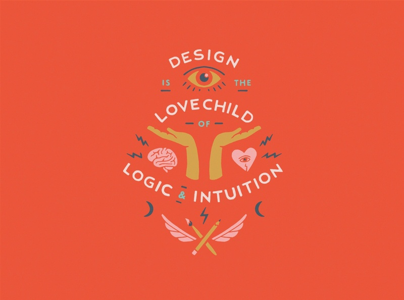 Design Cuts Challenge design cuts design quote flat illustration type lockup badge design sans serif eye heart wings brain vintage hands procreate