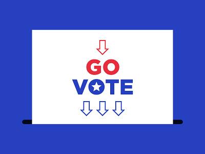 Go Vote ballot box go ballot go vote voter vote vector president election polling day illustration elector election day election 2020