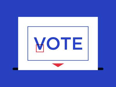 Vote 2020 registration typography banner voter vote vector president election polling day illustration go vote elector election day election ballot box ballot 2020