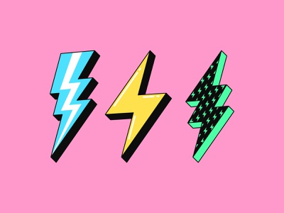 Lightning bolt retro textured vector voltage spark shock electricity discharge energy power charge electric icon sign flash thunderbolt thunder bolt lightning lightning bolt