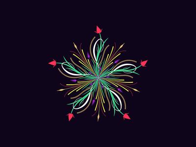 Flourishing round ornament, 7
