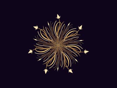 Flourishing round ornament, 8