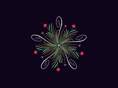 Flourishing round ornament, 9