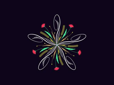 Flourishing round ornament, 15