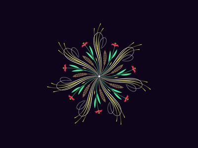 Flourishing round ornament, 17