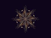 Flourishing round ornament, 18