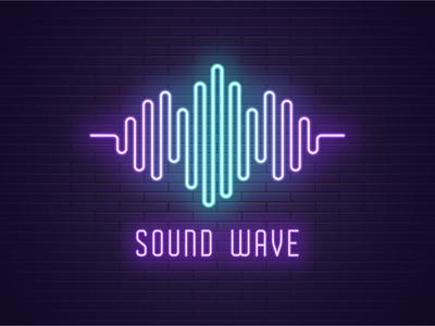 Neon sound wave