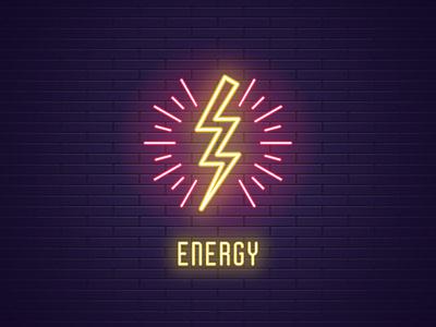 Lightning flash voltage electrical charge shock symbol electricity graphic power design vector thunder illustration light energy electric glowing flash bolt lightning neon