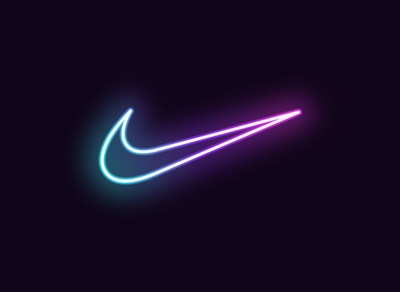 Neon Nike Logo