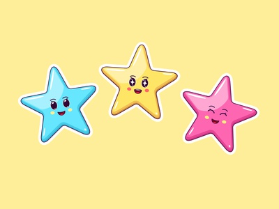 Cute Kawaii Stars