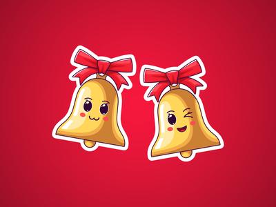 Christmas Kawaii Bells, Stickers