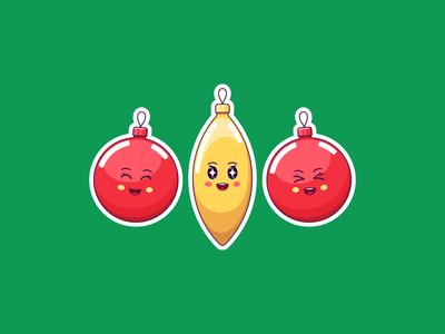 Kawaii Christmas Decoration, Stickers