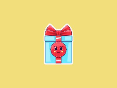 Kawaii Christmas Gift, Sticker