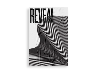 Reveal black and white poster art typography poster