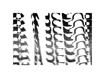 001 concept experiment typography abstract black and white