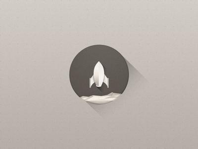 Rocket long longshadow vector icon illustrator shadow mark symbol geometric planet rock rocke