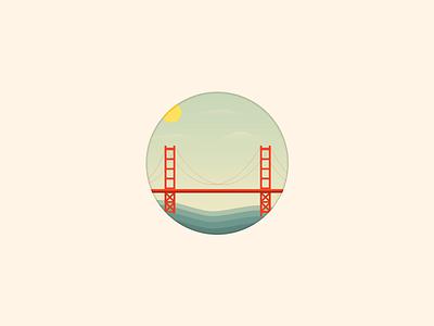 Golden Gate Bridge vector icon ocean golden gate bridge san francisco sky clouds cartoon sf bay