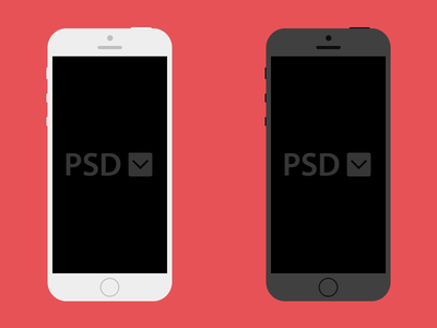 Free iPhone PSD Download apple freebie iphone psd template ios design flat