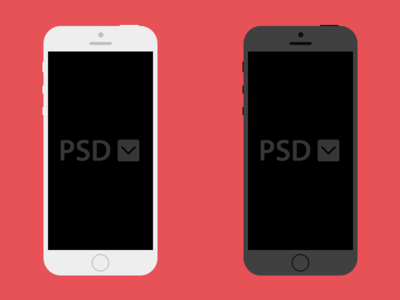 Free iPhone PSD Download apple freebie iphone psd template ios design flat